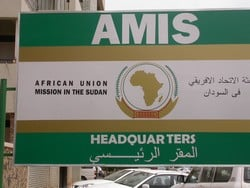 [Sudan] The African Union Mission in Sudan (AMIS) headquarters in Khartoum. 18 July 2005.