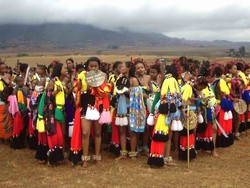 "[Swaziland] The annual reed dance - where young women gather from across the country to pay homage to the queen mother - could be seen as an example of ""girl power""."