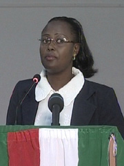 [Burundi] Burundi 2nd Vice-President Alice Nzomukunda, from President Pierre Nkurunziza's ruling party, Conseil national pour la defense de la democratie-Forces pour la defense de la democratie (CNDD-FDD). Place: Bujumbura, Burundi. [Date picture taken: