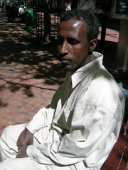 [South Africa/Somali] Abdi Hassan, 37, fled violence in three provinces before returning to the Cape Town region. His own experience of violence has bred a deep distrust of local South Africans. [Date picture taken: 10/05/2006]