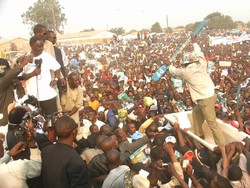 [Zambia] Michael Sata's last political rally ahead of the September 28 election. [Date picture taken: 10/01/2006]