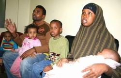 [Syria] Faisal Jemali and his family fled violence in Somali, but now struggle to make ends meet in Syria. [Date picture taken: 10/25/2006]