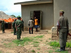[DRC] Sergeant Innocent Mamale who was sentenced to death by the military tribunal in Bunia following the killing of two electoral commission agents, DRC, 31 October 2006.