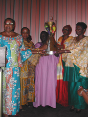 [DRC] Women ministers in charge of gender affairs from the Republic of Congo, Democratic Republic of Congo, Uganda, Rwanda and Burundi raise a peace torch at the end of a three-day workshop in Kinshasa, DRC. The women proposed that rape be treated as a cr