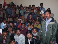 [Jordan] Indian and Nepalese workers stranded in Amman allege they have not received proper food, accommodation, water or employment for the past seven weeks. [Date picture taken: 04/09/2005]