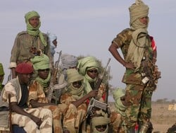 [Sudan] Sudanese Liberation Army (SLA) rebels in the town of Gereida in South Darfur State. [Date picture taken: 02/25/2006]