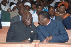 [Zambia] Andrew Mazoka (right) with former president Kenneth Kaunda. [2006]