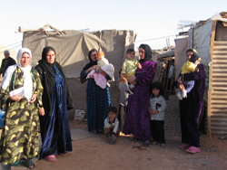[Jordan] Women and children are the most vulnerable among the refugees at Karama border.