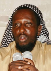 [Somalia] Shaykh Sharif Shaykh Ahmed, chairman of the Union of Islamic Courts.