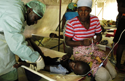 [Angola] Children form 35 percent of those affected by the cholera outbreak.