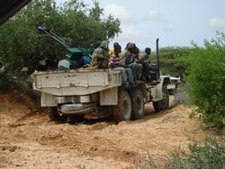 [Somalia] Islamic Court militia on patrol in Mogadishu. [Date picture taken: June 2006]