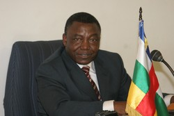 [CAR] Elie Dote, Prime Minister of the Central African Republic. [Date picture taken: May 2006]