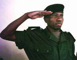 [DRC] Major Innocent Mayembe, Presiding judge of the military tribunal in Ituri. [Date picture taken: 07/10/2006]