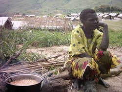 [DRC] Albertine Erumui, internally displaced in Bunia, northeastern district of Ituri. [Date picture taken: 07/23/2006]