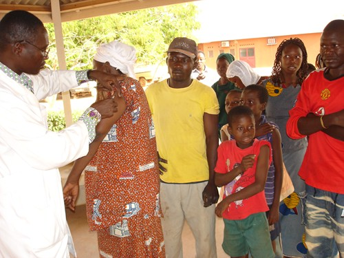 Meningitis vaccination campaign kick off in Ouagadougou.