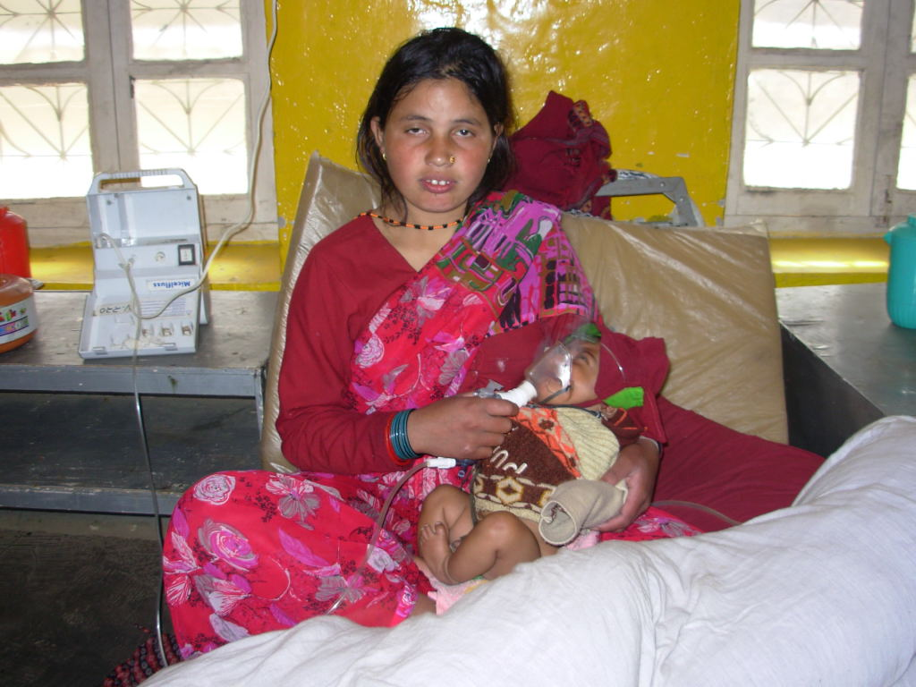 Nanda Devi Bohara, 18, almost lost her 2-month old son who was suffering from pneumonia. She managed to reach the hospital after nearly two days of walk from her village in Accham district.