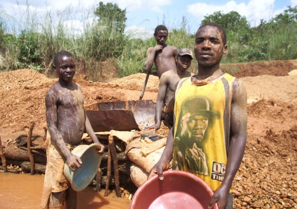 Takemore Gunhe, 26, recently came to Manica from neighboring Zimbabwe to work someone else's gold claim. A third to a half of goldpanners in Manica are Zimbabweans fleeing their country's economic collapse.