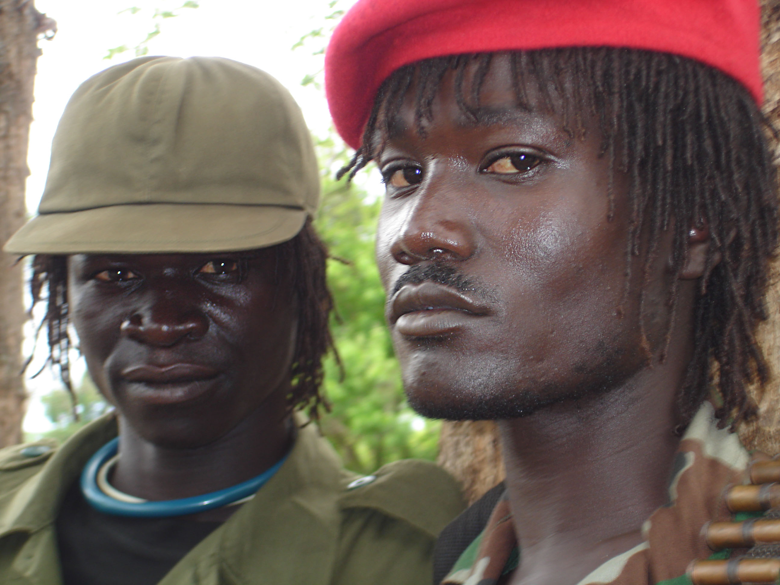 Two members of the LRA, Rikwangba, Sudan, April 2007.