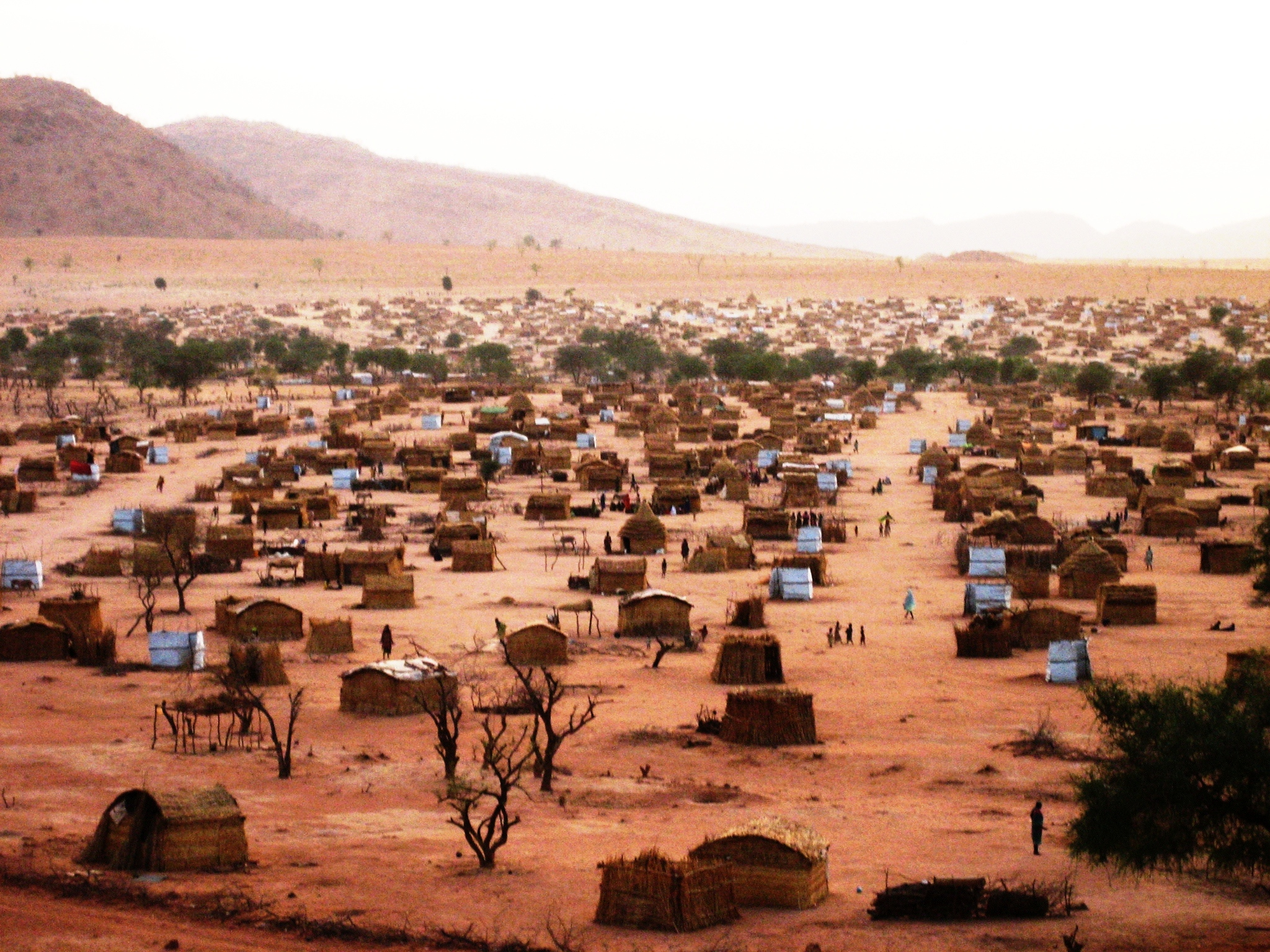 Koloma, a site for displaced people near Goz Beida.