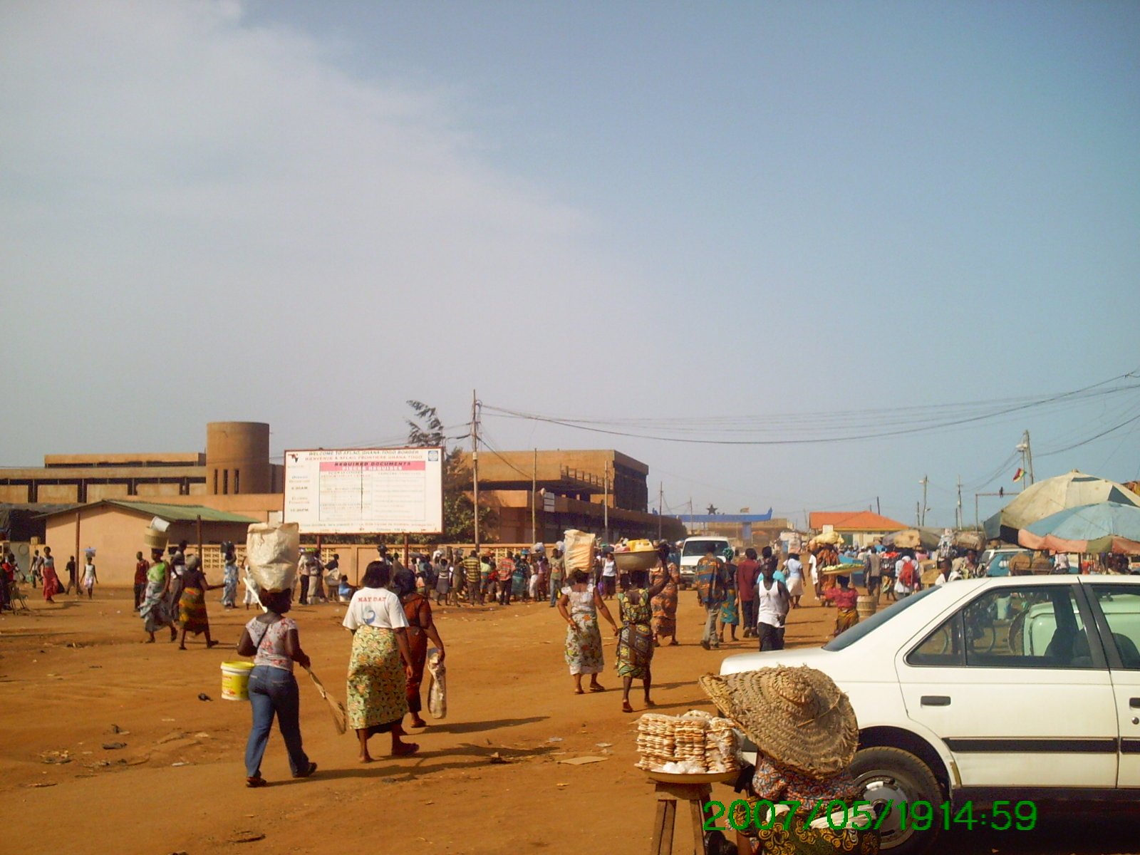 Brisk business at Aflao, the Ghanaian town bordering Togo.