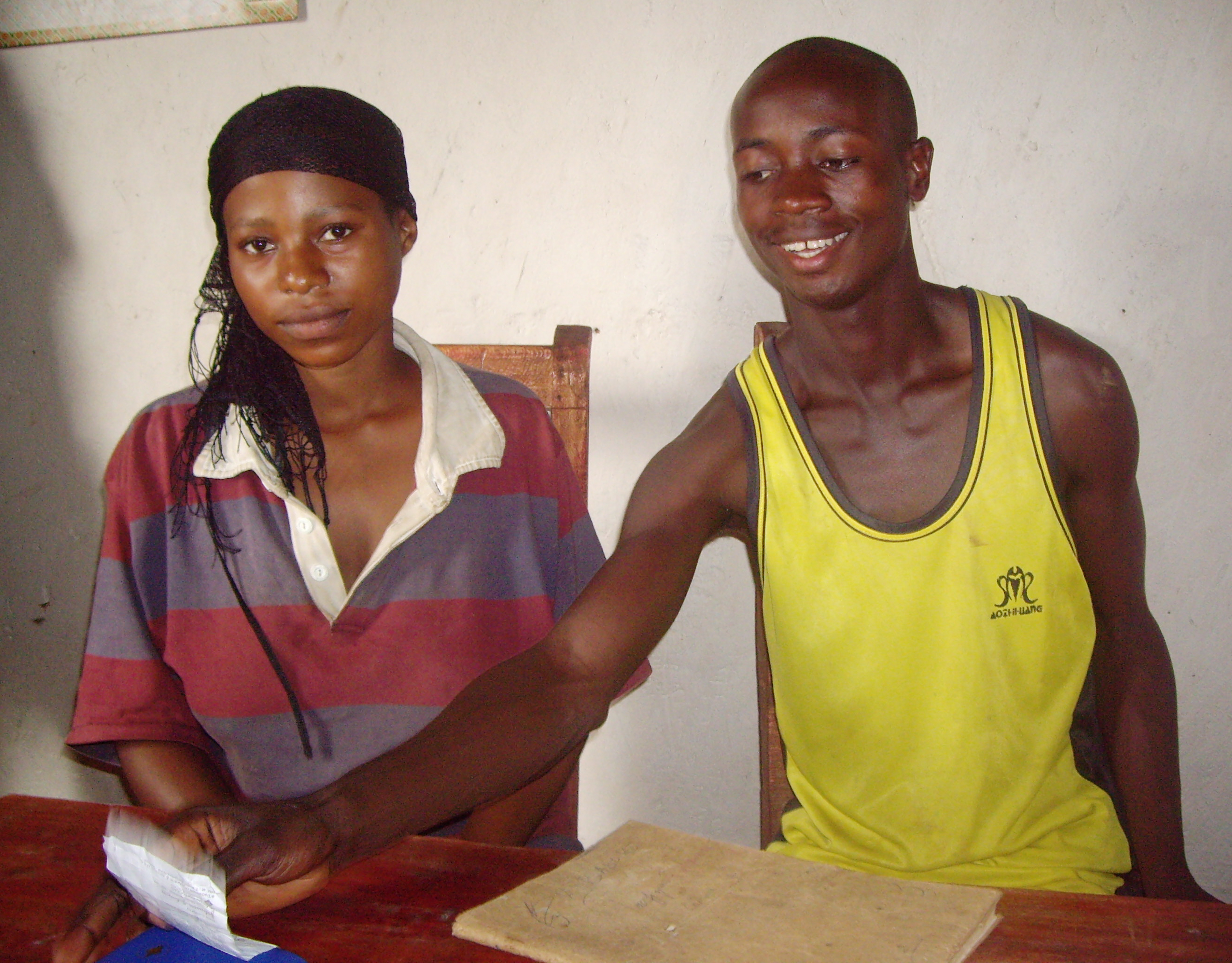 Elias Bizimana, 25, and his 19-year-old wife Beatrice Uwimana have 10 years' fighting experience between them, Burundi, 4 June 2007. They were combatants for the then rebel Conseil national pour la défense de la démocratie-Forces pour la défense de l