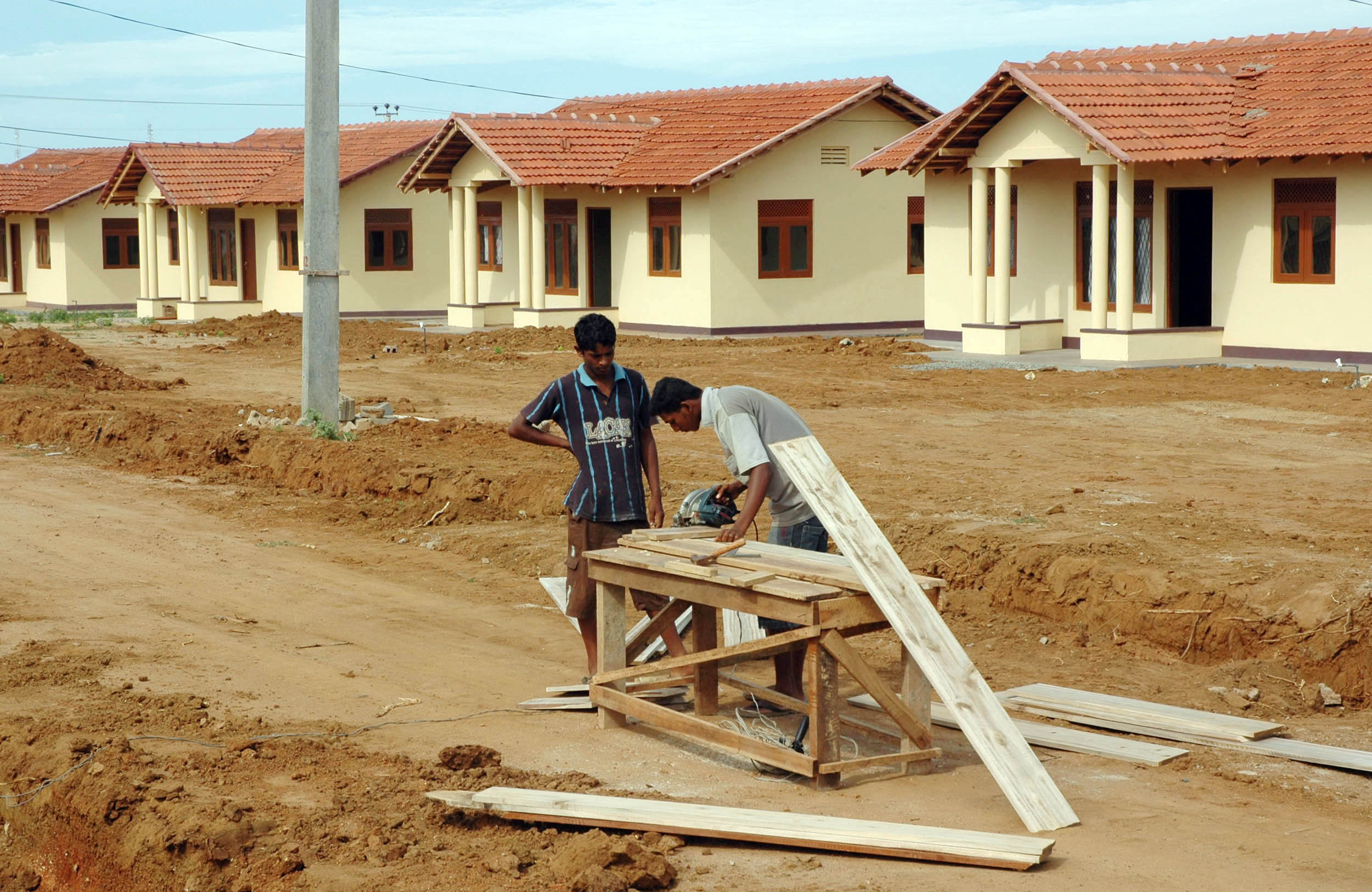 Siribopura in Hambantota District: a 240 hectare township of more than 1,600 houses for those affected by the tsunami. In the southern districts of Sri Lanka, the building of permanent housing for tsunami victims has proceeded far faster than that for tho