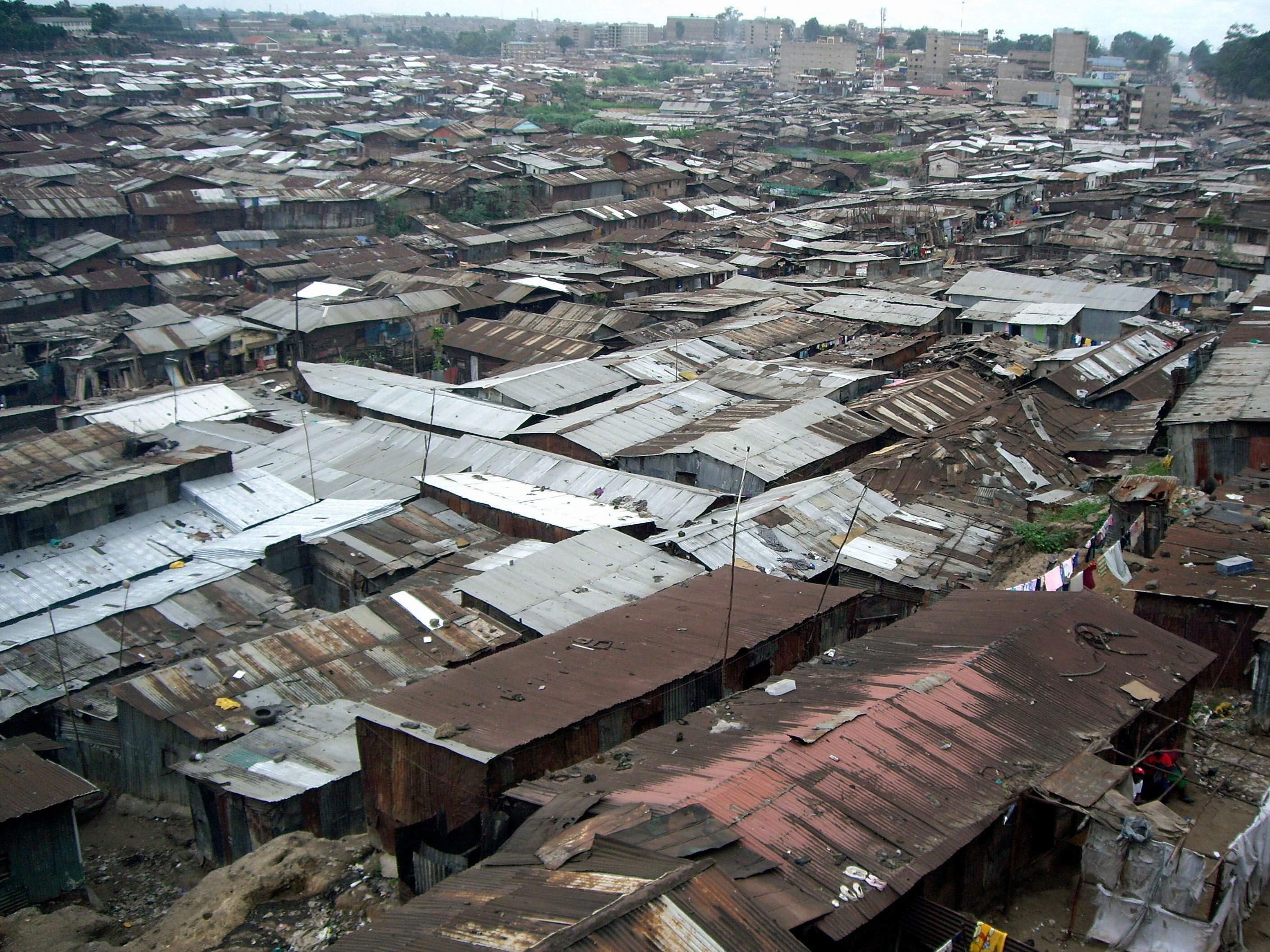 Mathare Valley slum in Nairobi, Kenya. Mathare is one of the biggest slums in Africa. 20 July 2007.
