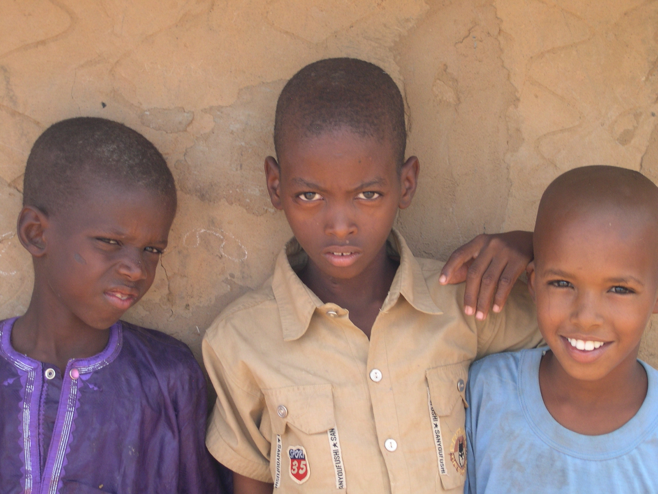 Mauritanian refugee children at a camp in Ndioum, Senegal.