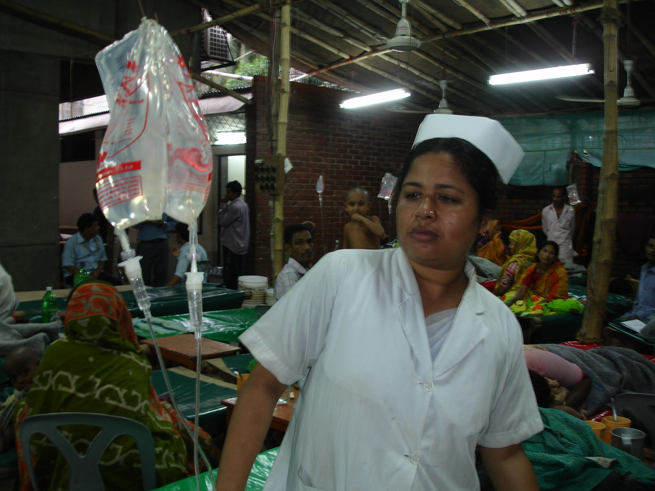 A scene inside the International Centre of Diarrhoeal Disease Research, Bangladesh (ICDDR-B) in Dhaka. More than 50,000 people are suffering from diarrhoea throughout Bangladesh after unusually heavy monsoon rains and flooding