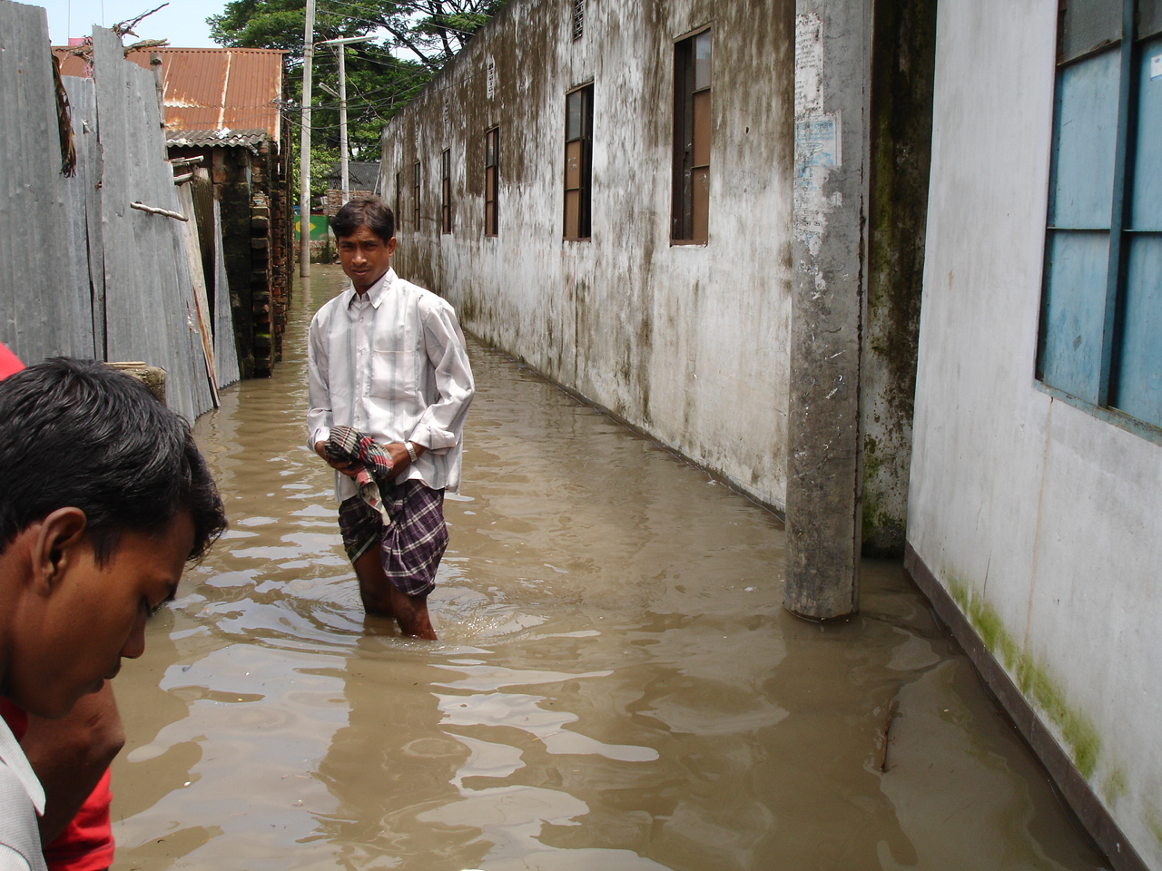 Stagnant pools of water provide fertile ground for a host of water-borne diseases. Each year approximately one-third of the country floods over during the annual monsoon rains