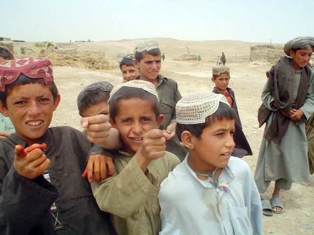 Thousands of children have been displaced as insurgency-related violence escalates in southern Afghanistan.