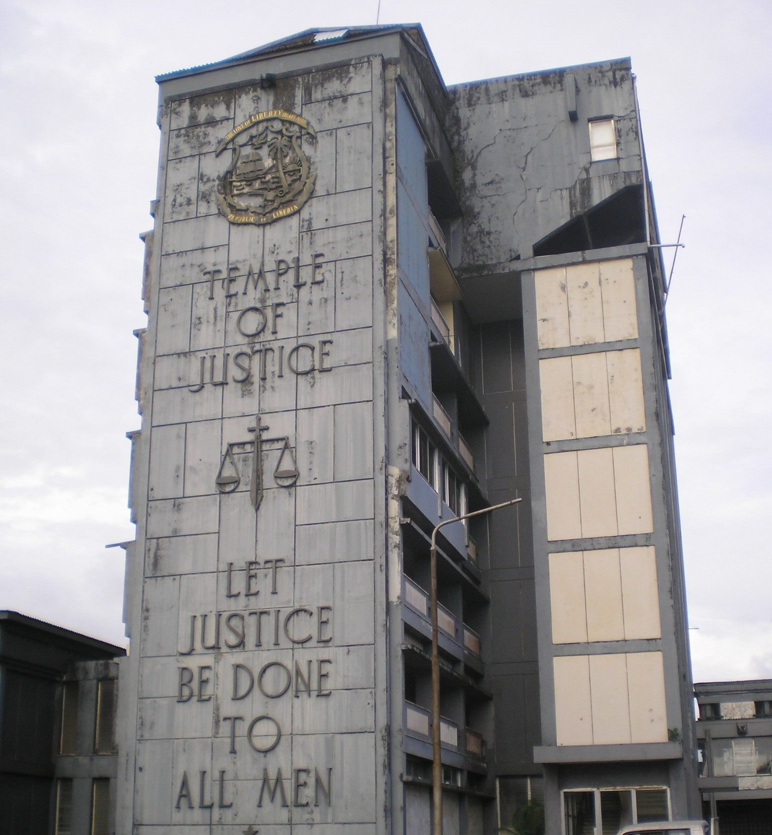 Court building in the Liberian capital, Monrovia.