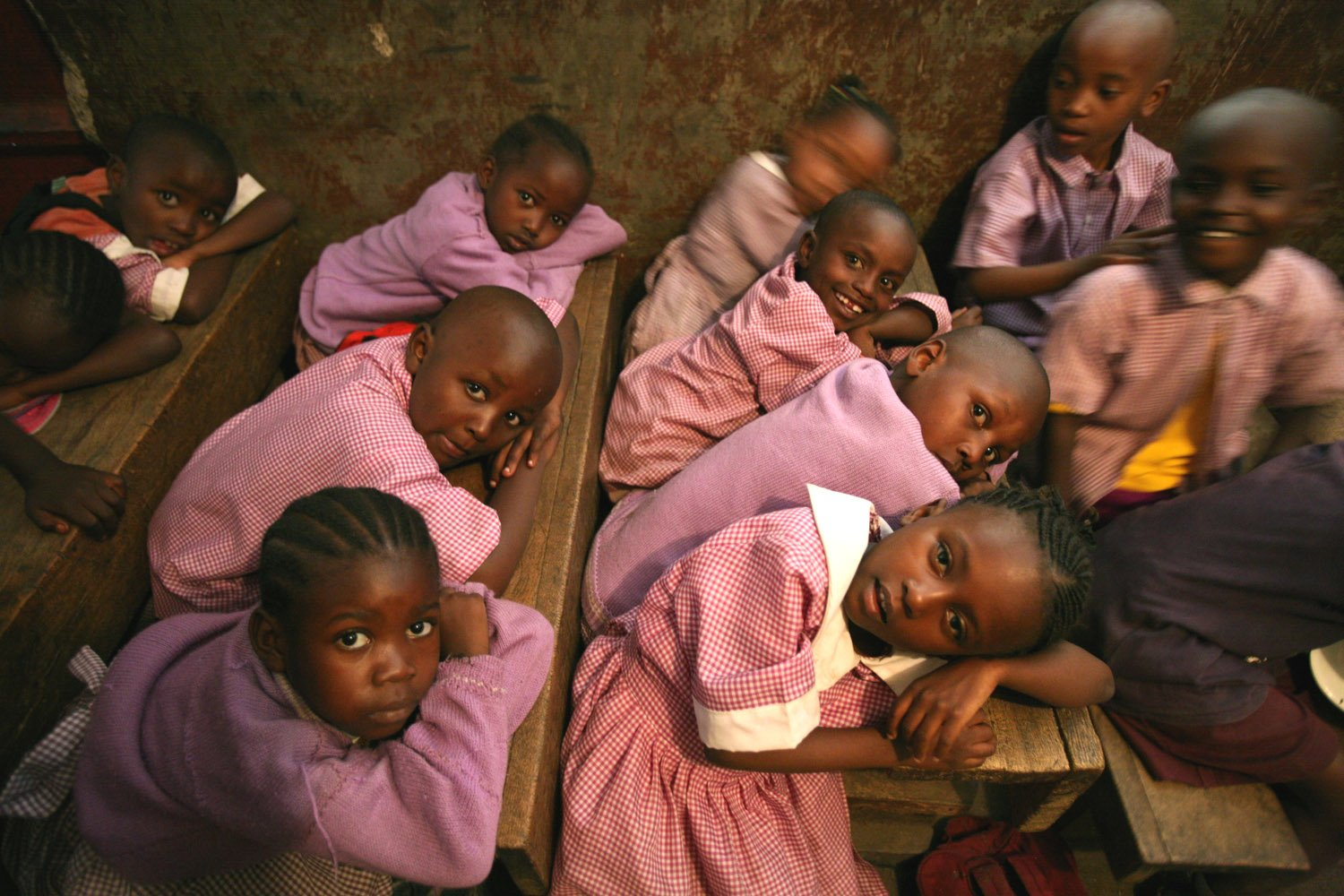 The school in Mathare slum in Nairobi, Kenya, September 2007. Mathare slum is Africa's largest slums, with almost one million residents struggling with limited access to clean water, sanitation, healthcare and education. Many schools try offering some b