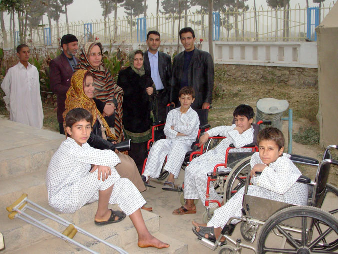 About 60 children were killed and tens were wounded in an incident on 6 November in Baghlan province. Here, some of the injured children are visited by parents and friends.
