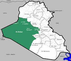 [Iraq] A map of Iraq highlighting Anbar province and five key cities within it. [Date picture taken: 01/15/2007]