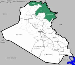 [Iraq] A map of Iraq highlighting the Kurdish provinces in the north.  [Date picture taken: 01/18/20076]