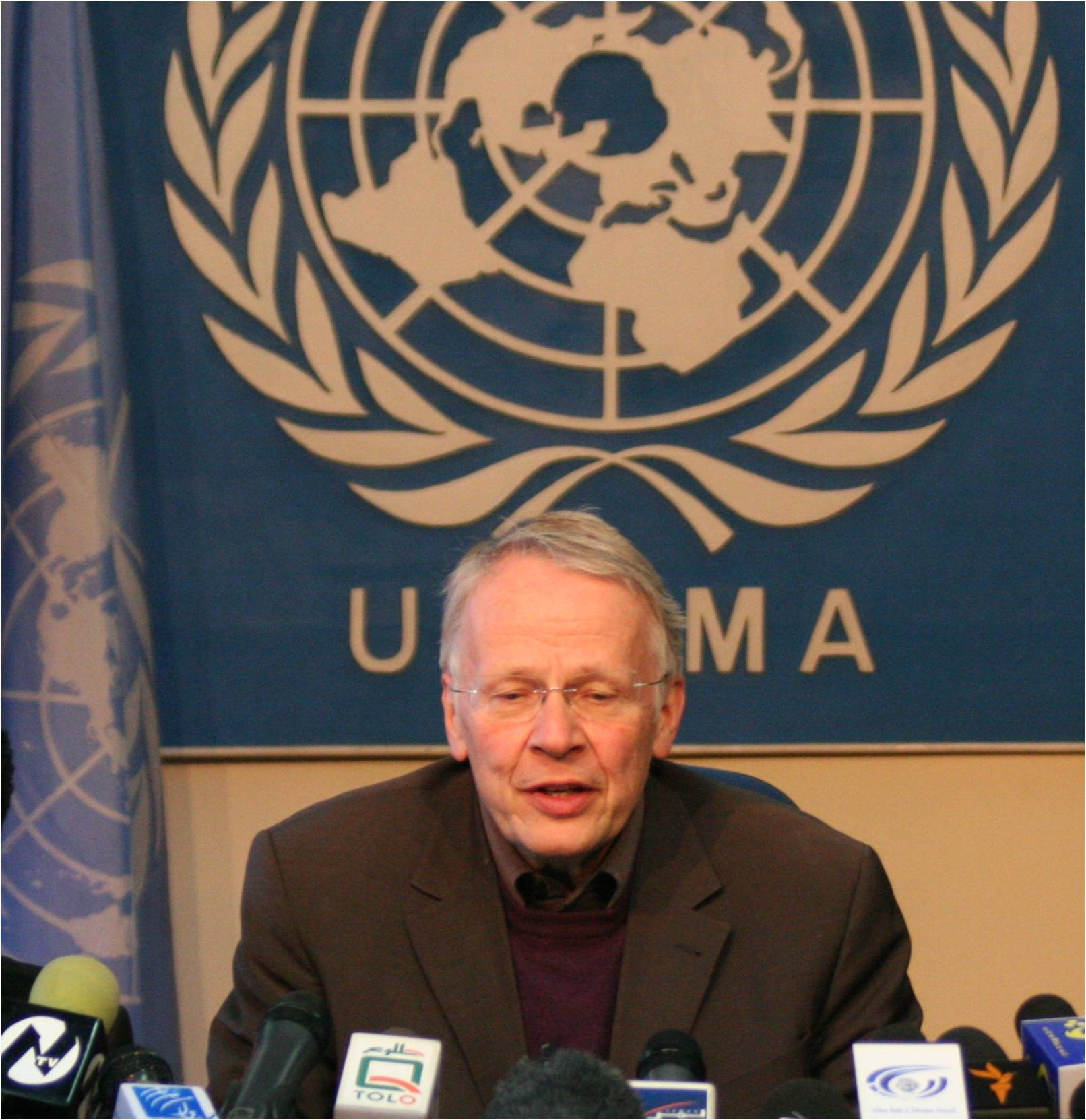 Tom Koenigs served as Special Representative  of the UN Secretary-General for Afghanistan and head of the UN Assistance Mission in Afghanistan (UNAMA) from March 2006 to December 2007.