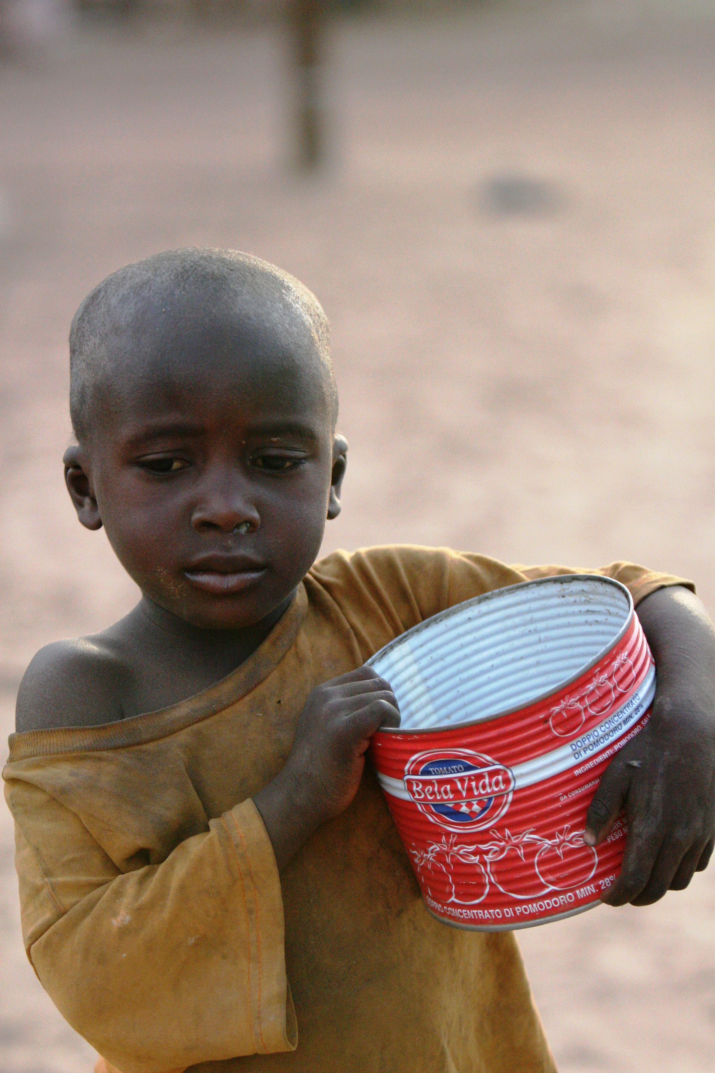 Talibe boy begging in Dakar.