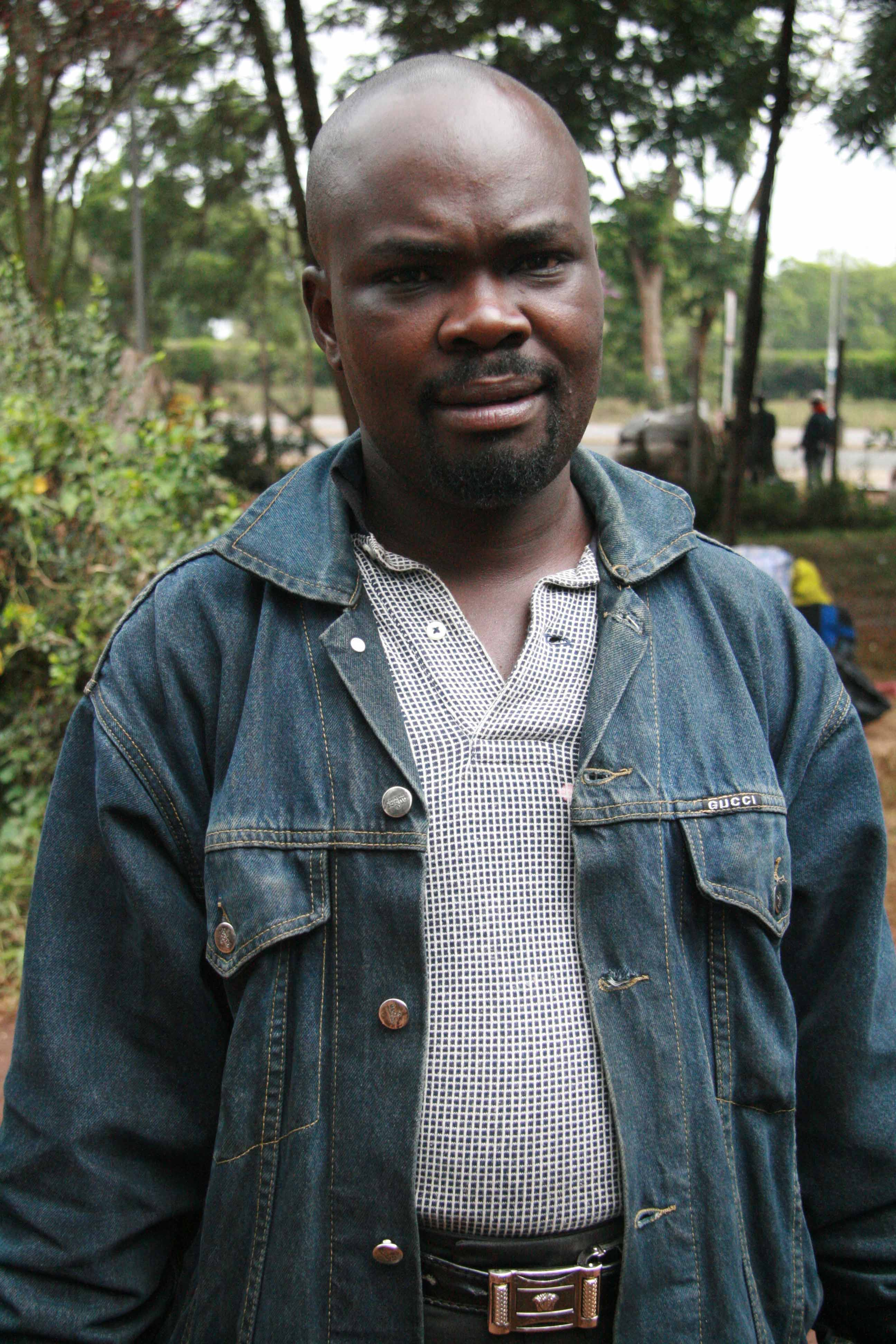 Samson Opoyo, a tailor who had lived in Uthiru Gichagi for 10 years.