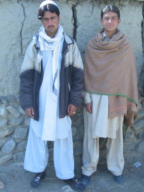 Two Pakistani young men in Khost who fled to Afghanistan to escape sectarian violence.
