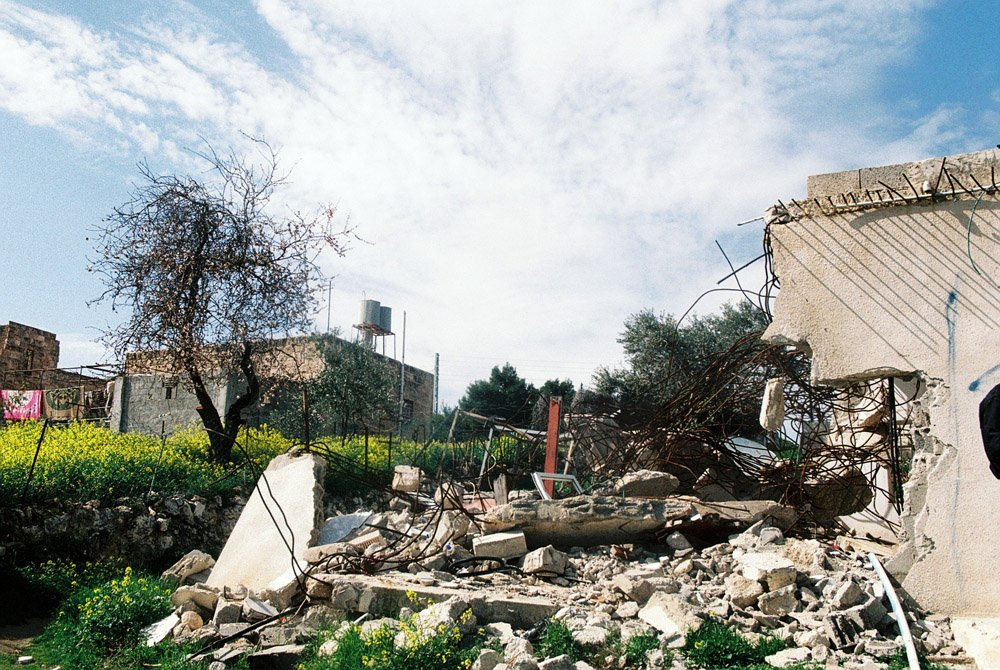 Nidal's demolished home.