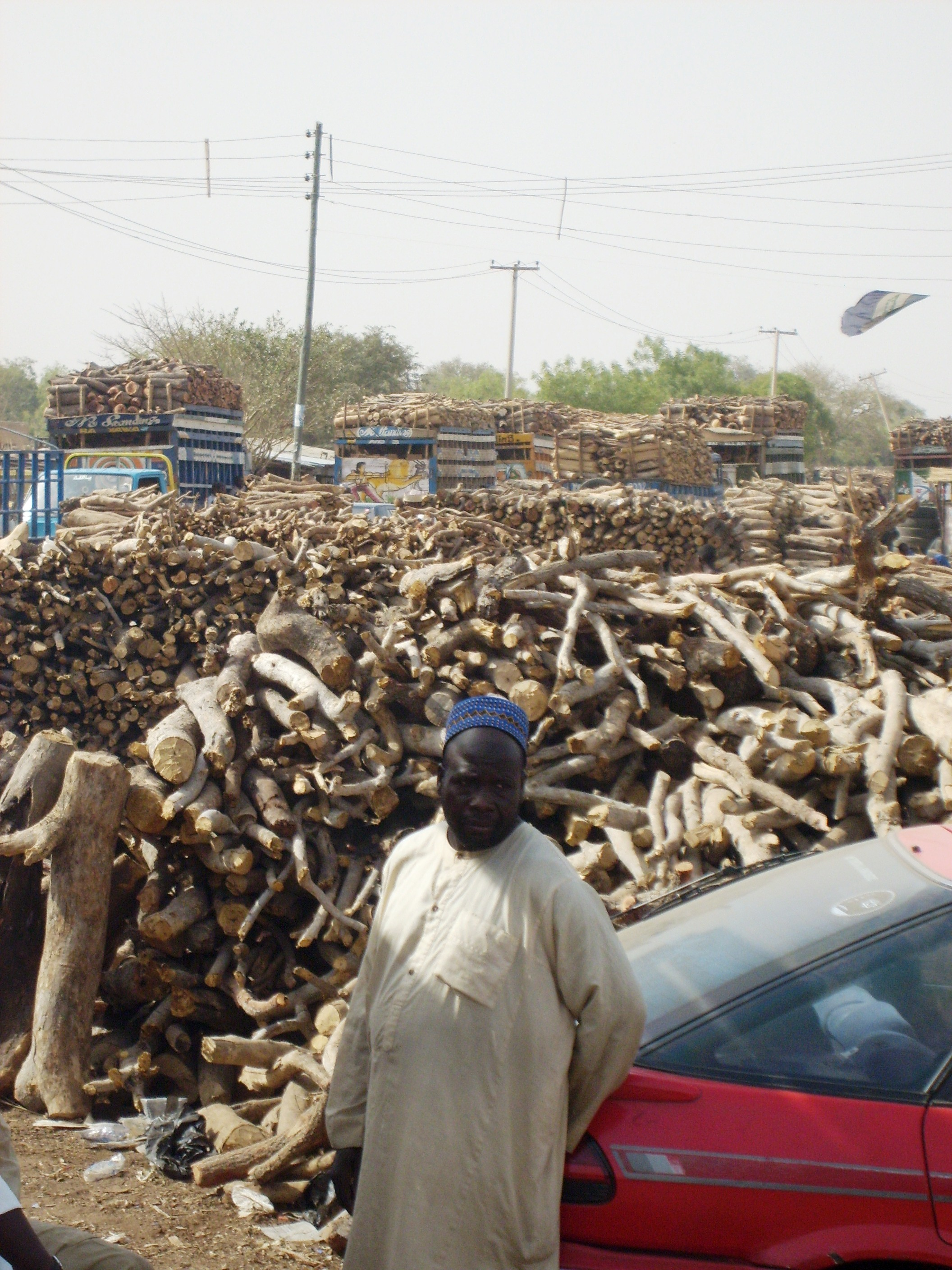 Mariri wood depot in Kano.
