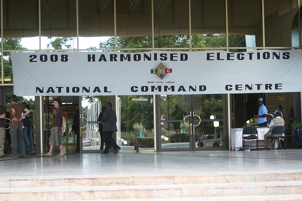 Zimbabwe's national election command centre.