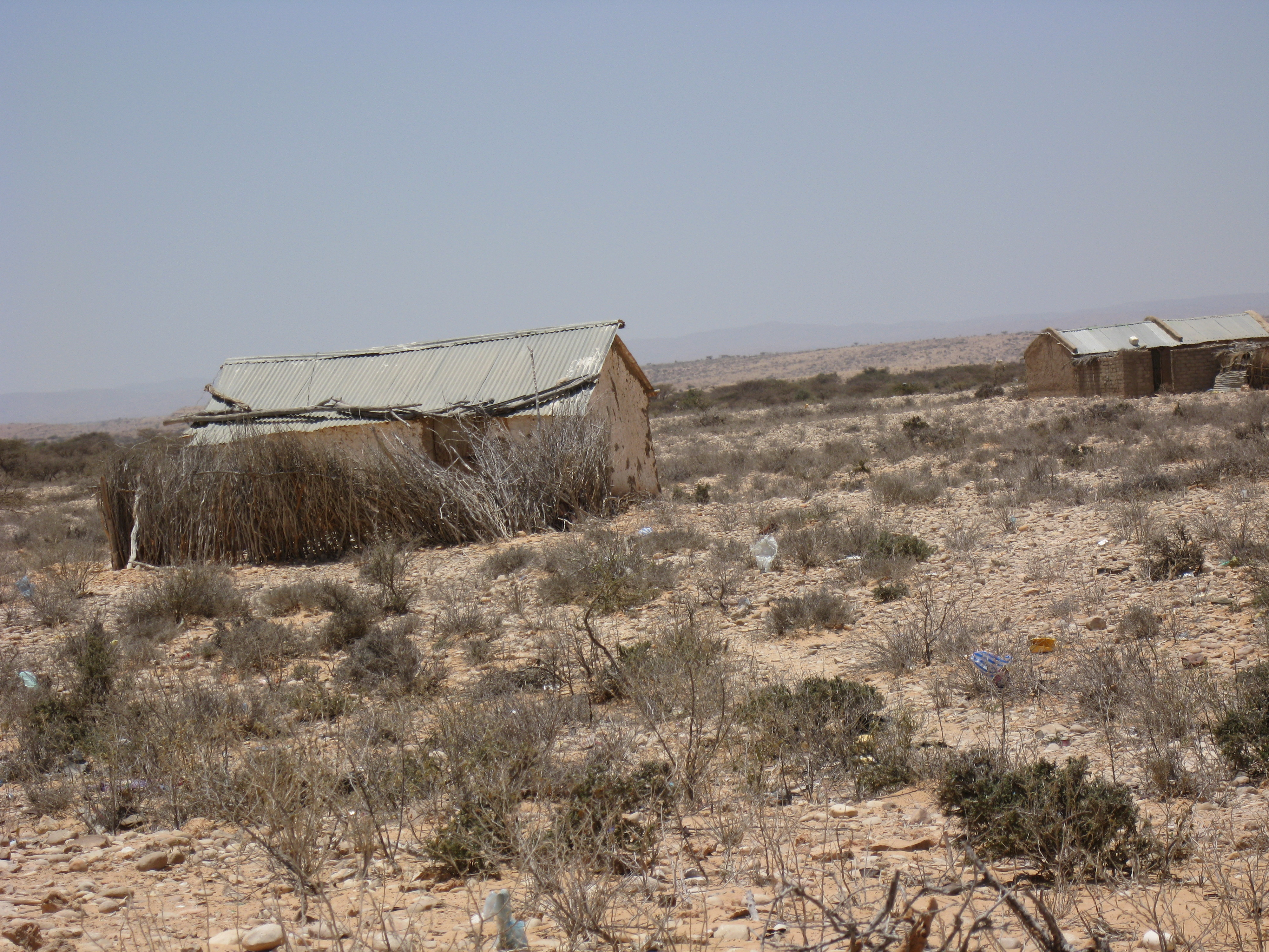 Abandoned houses due to drought in Hamure village, Somalia.