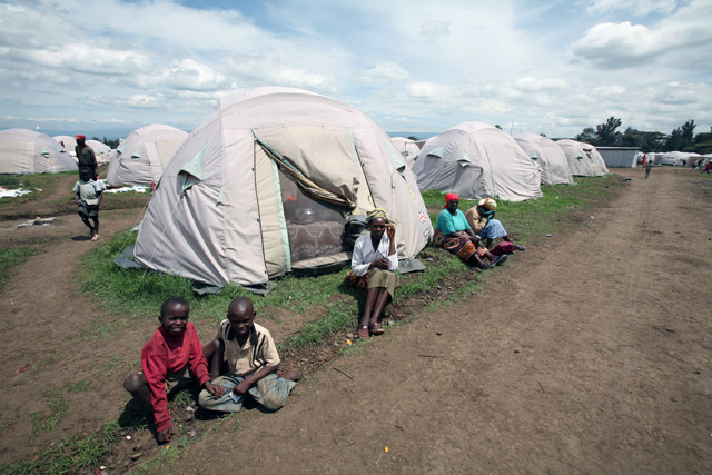A view of an IDP camp in Nakuru, Kenya April 2008. In the Rift Valley, hardest-hit by the post election violence, more than 100,000 people remain in IDP camps, unable to return home due to the destruction of their property and continuing tension in the re