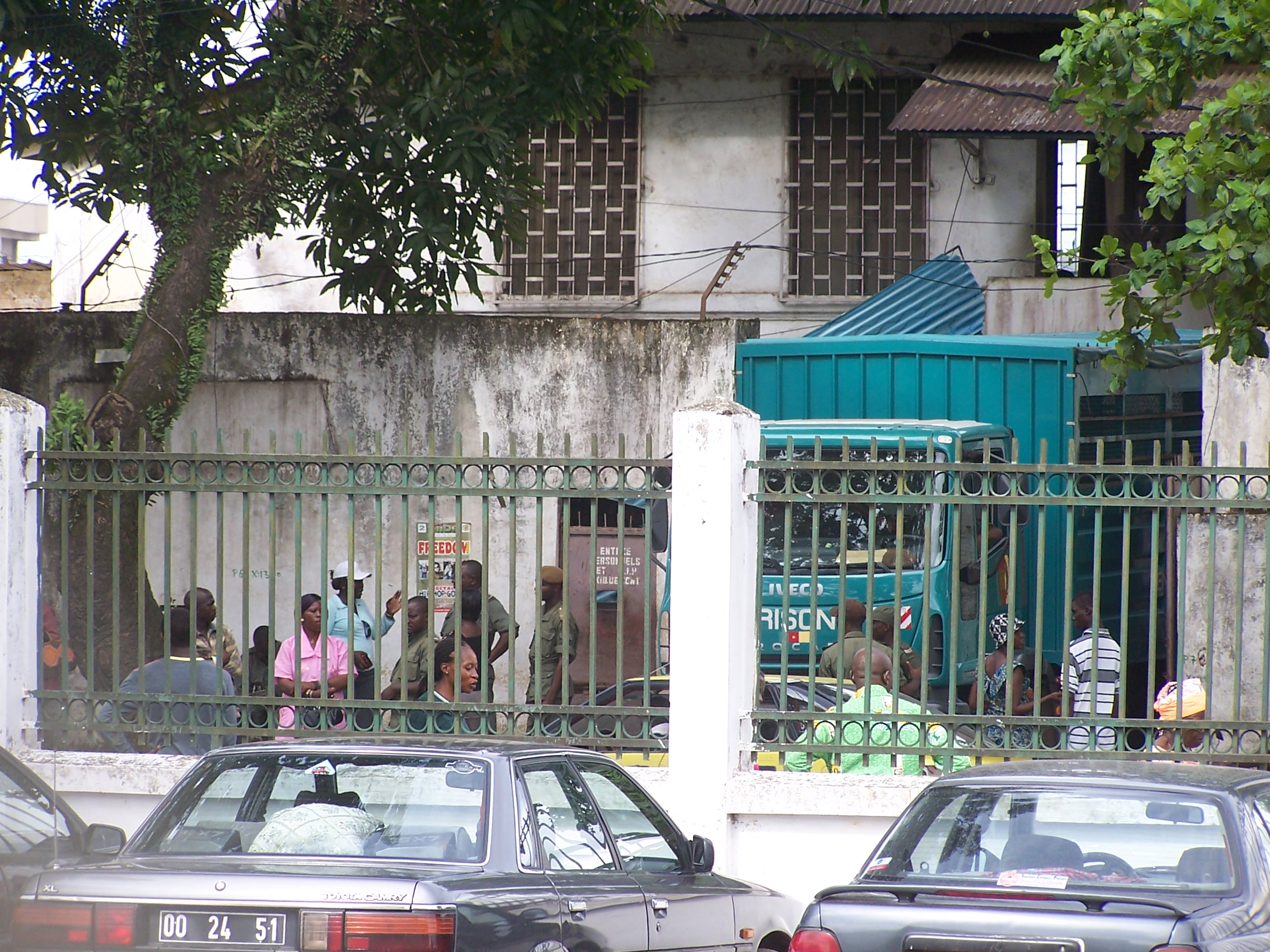 The central prison in Douala where there are many minors imprisoned alongside adults.