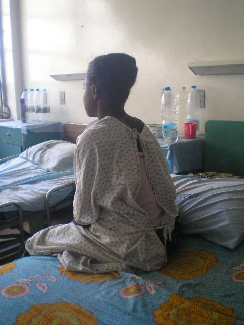 A fistula patient at the John F. Kennedy Hospital in Monrovia.