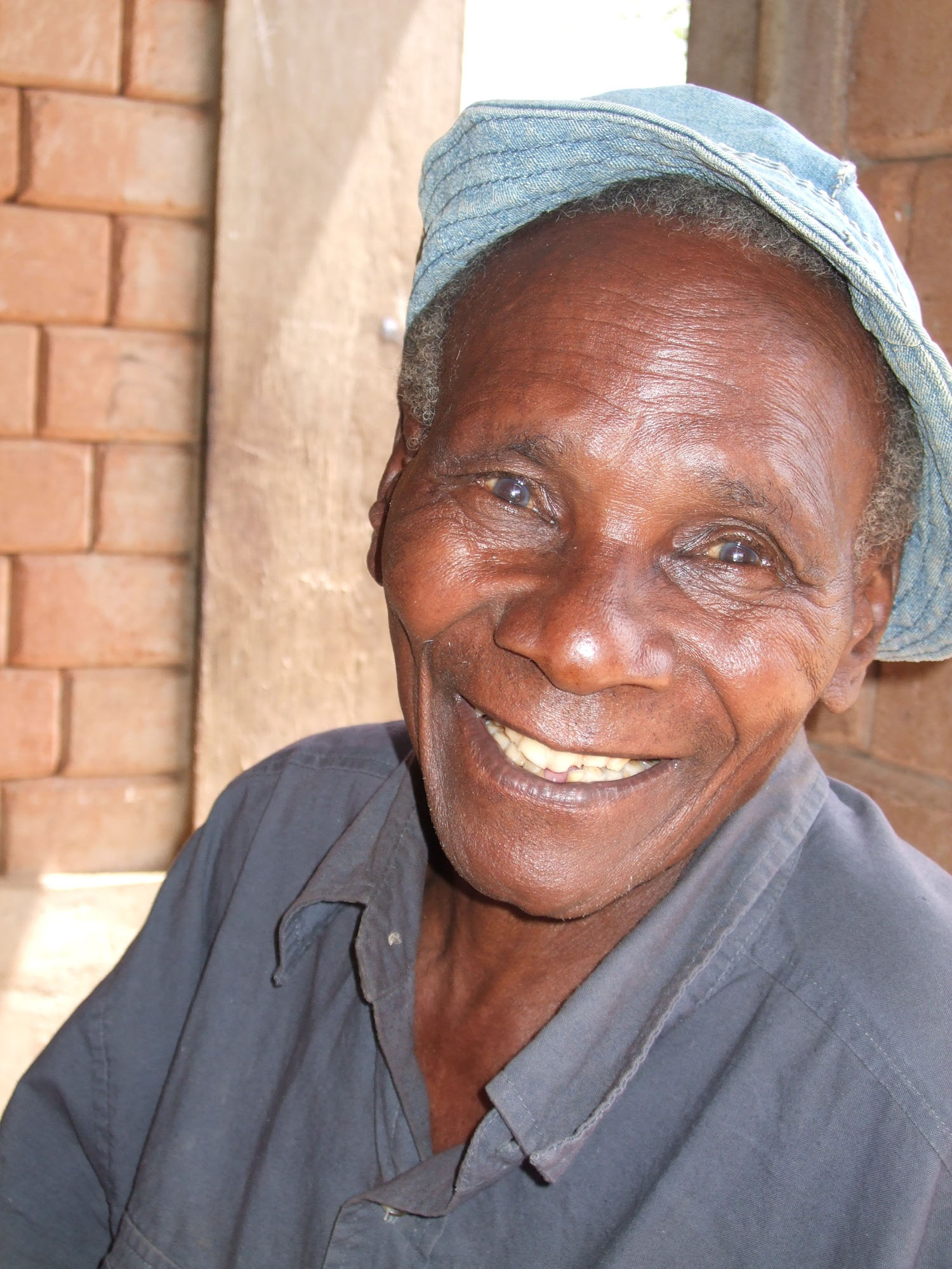 Malonza Malembew is one of just two grandfathers at the Nyumbani village.