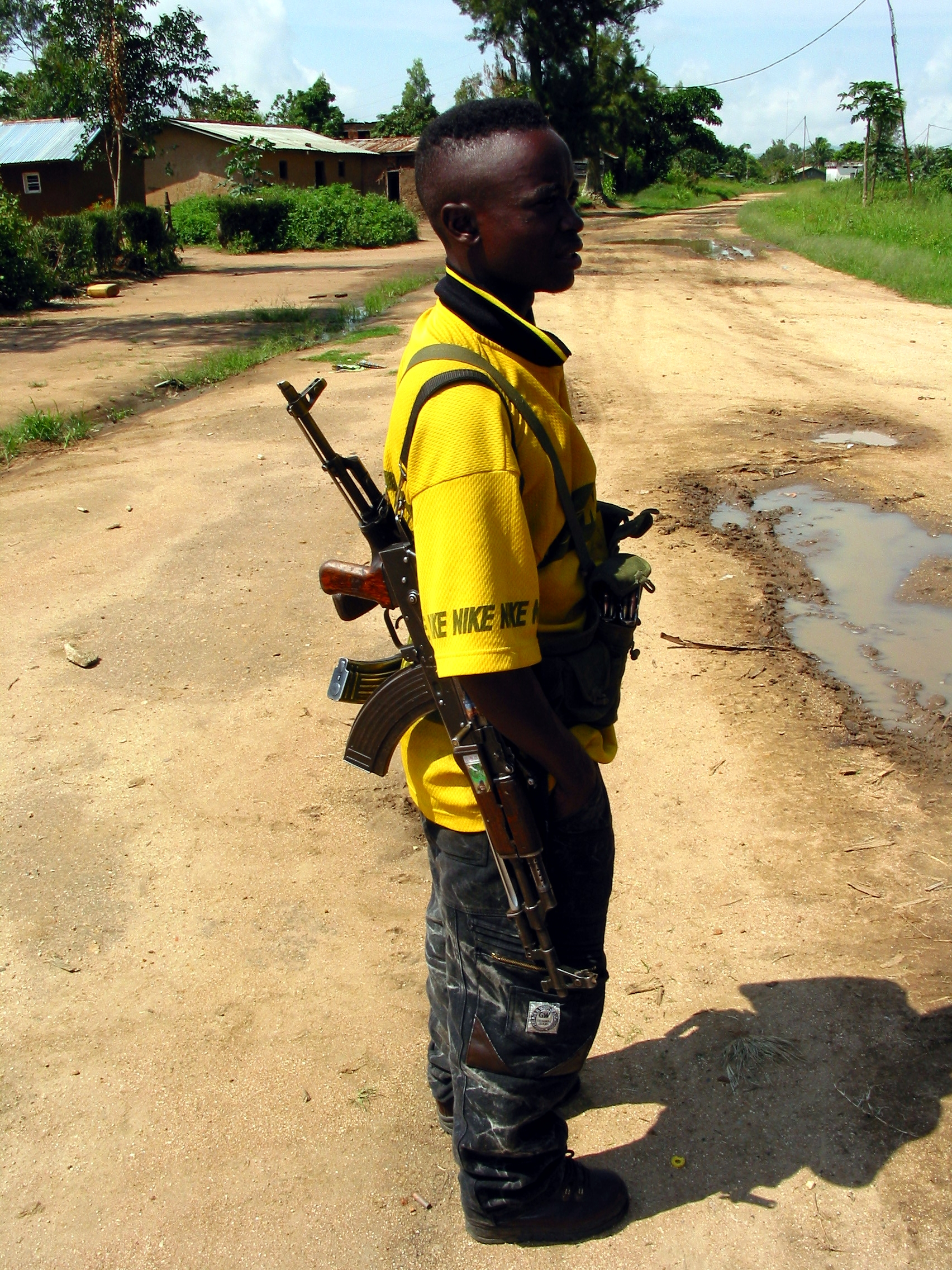 A young member of Thomas Lubanga's rebel group in Bunia in 2003.