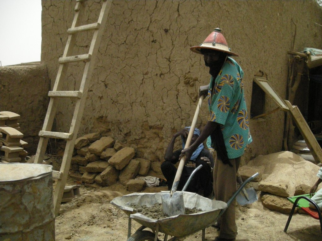 Iddar Ag Ogazide was once a slave to a Touareg family but now works is a free man and works on a building site in Gao.